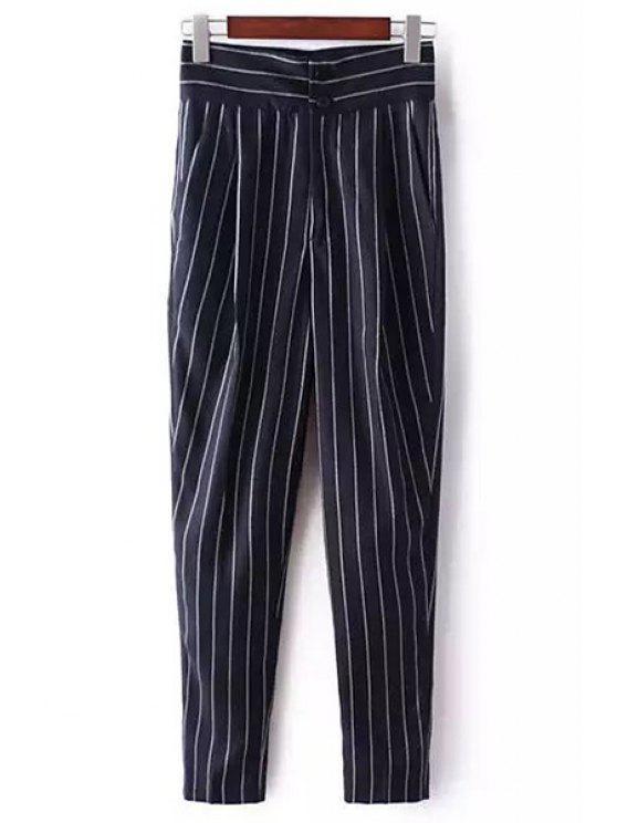 Pantalones a rayas de talle alto en Chino - Marina de Guerra M