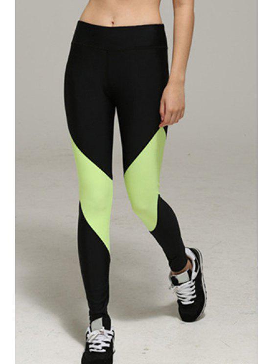 outfit High Waist Sport Pants - FLUORESCENT YELLOW XL