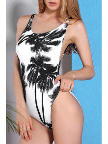 Coconut Palm One-Piece Swimwear - S