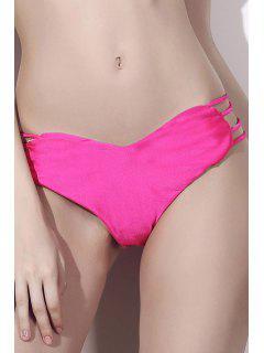 Solide Modèle De Coeur De Couleur Halter Bikini Set - Rose M