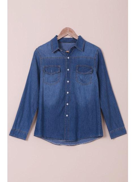 Chemise manches longues à manches longues - Bleu M Mobile