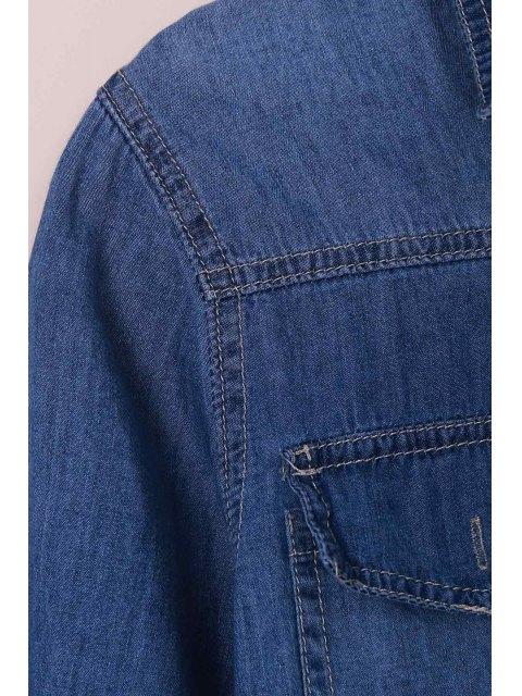 Chemise manches longues à manches longues - Bleu XL Mobile