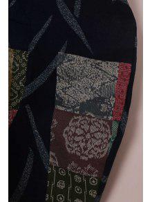 Manga Sin Redondo Con Suelto Estampado Azul Floral Vestido Cuello Con 2xl qwE4SS5C