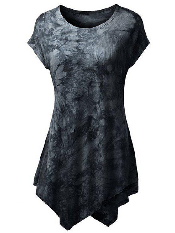 Resumen de impresión de manga corta de la camiseta - Negro M