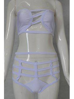 Creux Bustier Ensemble Bikini - Blanc Xl