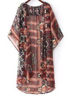 Kimono Manches En Mousseline De Soie Blouse - M