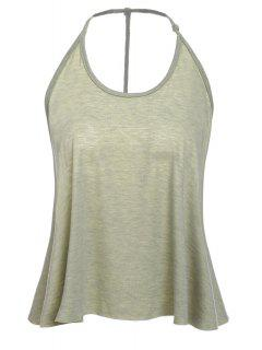 Solid Color Cami Tank Top - Olive Green 2xl