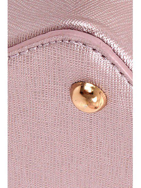 online Sequined Bunny Ear PU Leather Crossbody Bag -   Mobile