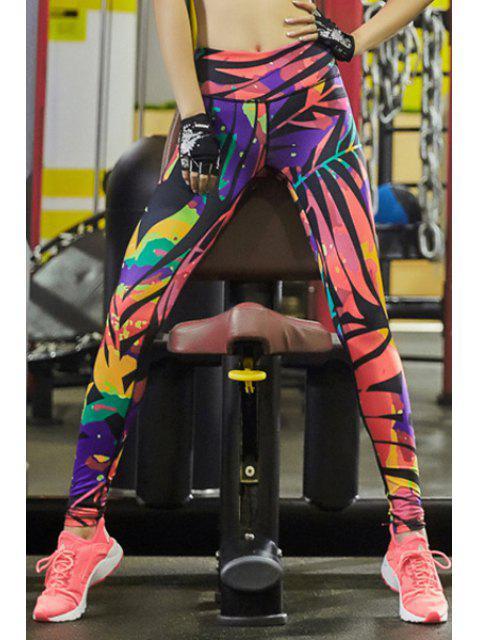 women's Geometric Print Tihgts Leggings - COLORMIX XL Mobile