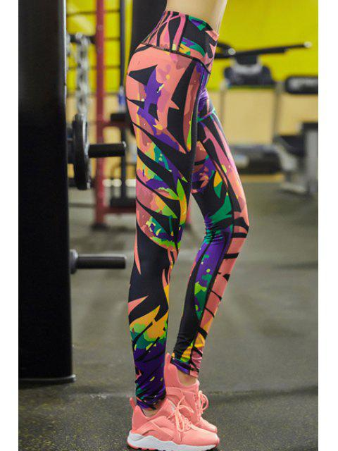 lady Geometric Print Tihgts Leggings - COLORMIX M Mobile
