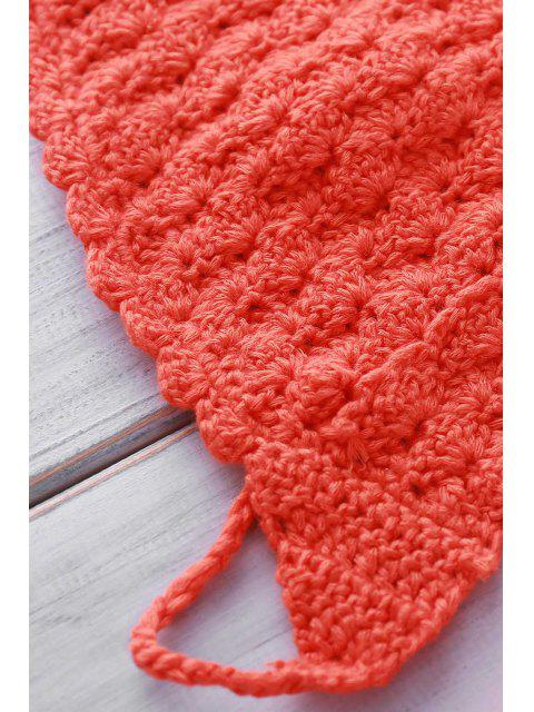 fancy String Crochet High Leg Bikini Set - WATERMELON RED ONE SIZE(FIT SIZE XS TO M) Mobile