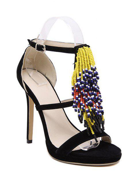 outfits Colorful Beading Stiletto Heel Sandals -   Mobile