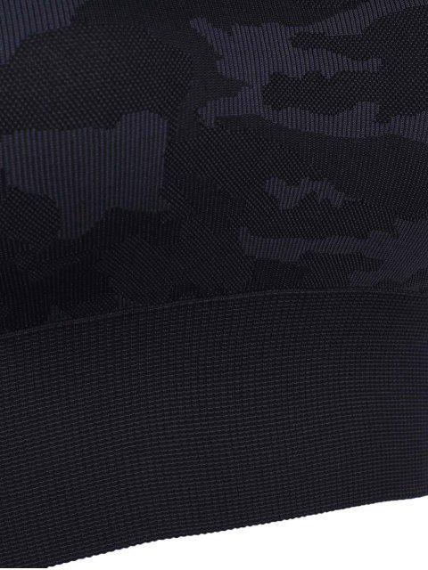 fashion Camouflage Graphic Sport Bra - GRAY M Mobile