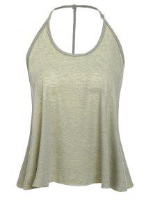 Buy Solid Color Cami Tank Top - OLIVE GREEN XL