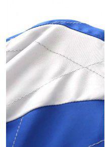B Azul Negro Chaqueta M Bordado Y 233;isbol Reversible De 6xAWqvHw