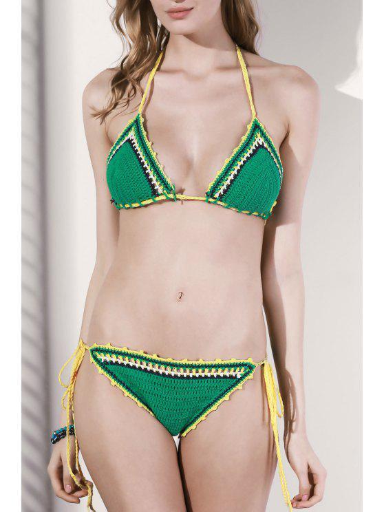 La secuencia del ganchillo del bikini - Verde Un tamaño(Montar tam