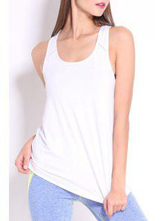 Racerback Tank Top - White M