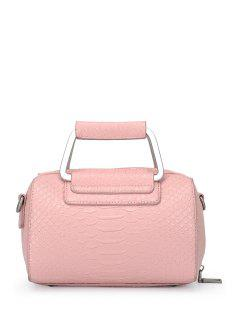 Solid Color Crocodile Print Tote Bag - Pink