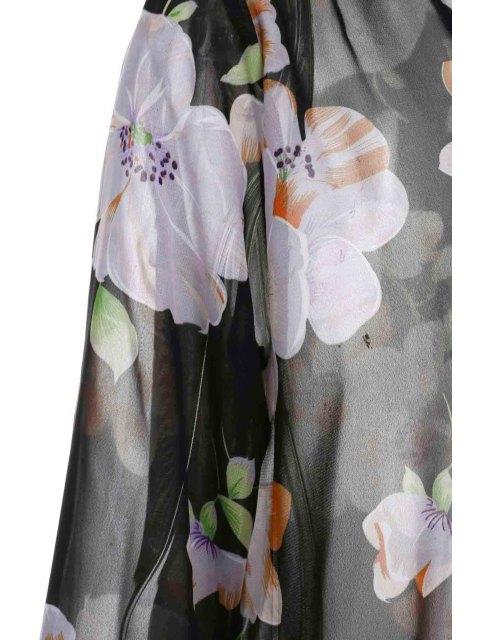 Collier Semelle en caoutchouc floral à manches longues - Noir L Mobile