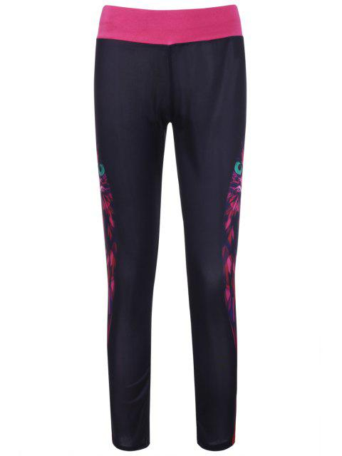 buy Owl Print Yoga Pants - COLORMIX ONE SIZE(FIT SIZE XS TO M) Mobile