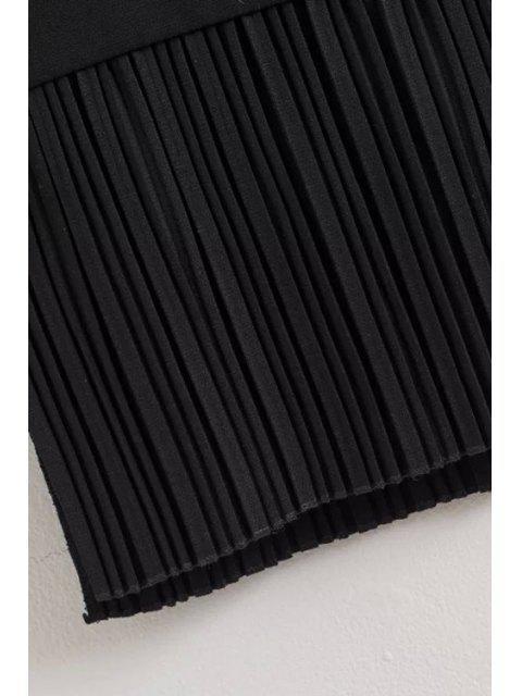 Low Cut plissées Hem Waistcoat - Noir M Mobile