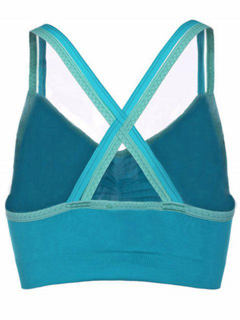 latest Shirred Front Sports Bra -   Mobile