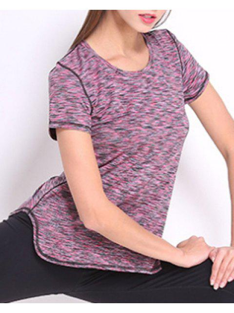 trendy Exposed Seams Quick Dry Top -   Mobile