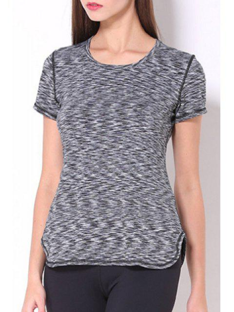 fancy Exposed Seams Quick Dry Top -   Mobile