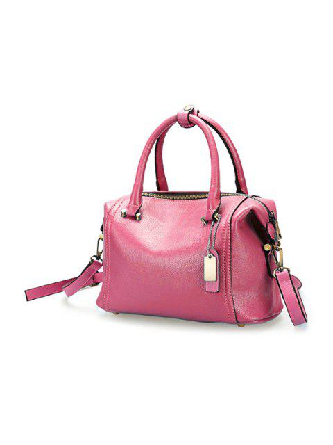 latest PU Leather Candy Color Tote Bag - PINK  Mobile
