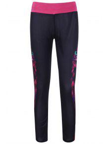 Owl Imprimer élégant Couleur Bloc élastique Yoga Stretch Pantalons Pour Femmes