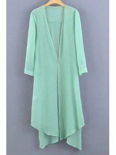 Candy-Colored Sunscreen Blouse - Light Green S