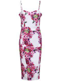 Full Floral Cami Bodycon Dress - Rose S