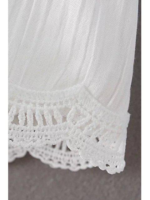 Laçage épissage manches 3/4 T-shirt évider - Noir S Mobile