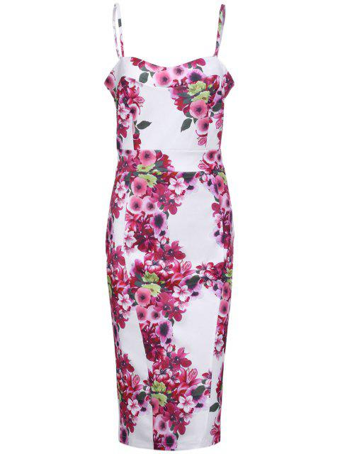 latest Full Floral Cami Bodycon Dress - ROSE S Mobile