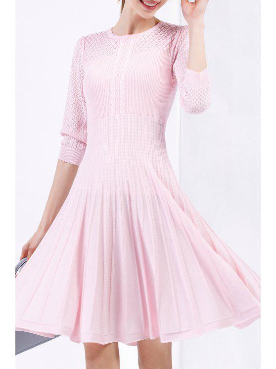 فستان سويت ركبة الطول - زهري S