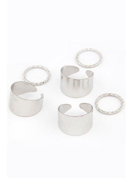 online Punk Style Rings - SILVER ONE-SIZE