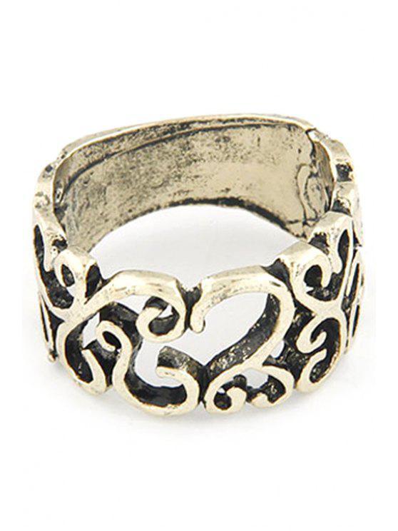 Ahueca hacia fuera el anillo de estilo retro - Dorado Uno de tamaño