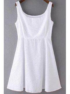 Sans Manches A-Line Robe Blanche - Blanc S