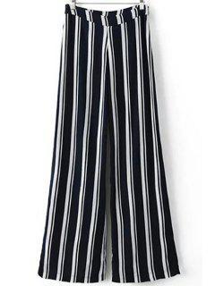 Raya Azul De Los Pantalones De Pierna Ancha - Raya Xs