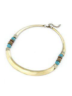 Beads Tribal Style Chokers Necklace - Golden