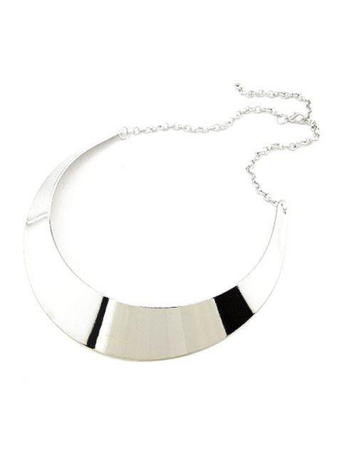 affordable Smooth Mirror Plane Chokers Necklace - SILVER  Mobile