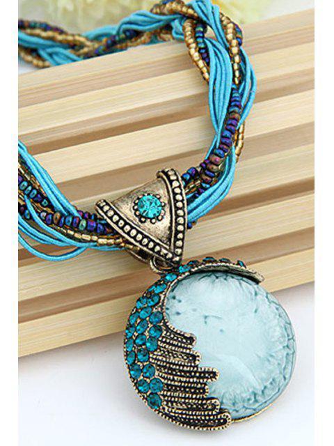 fashion Faux Gem Multilayered Ethnic Style Necklace -   Mobile