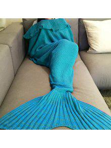 محبوك حورية البحر الذيل رمي بطانية - المياه الزرقاء
