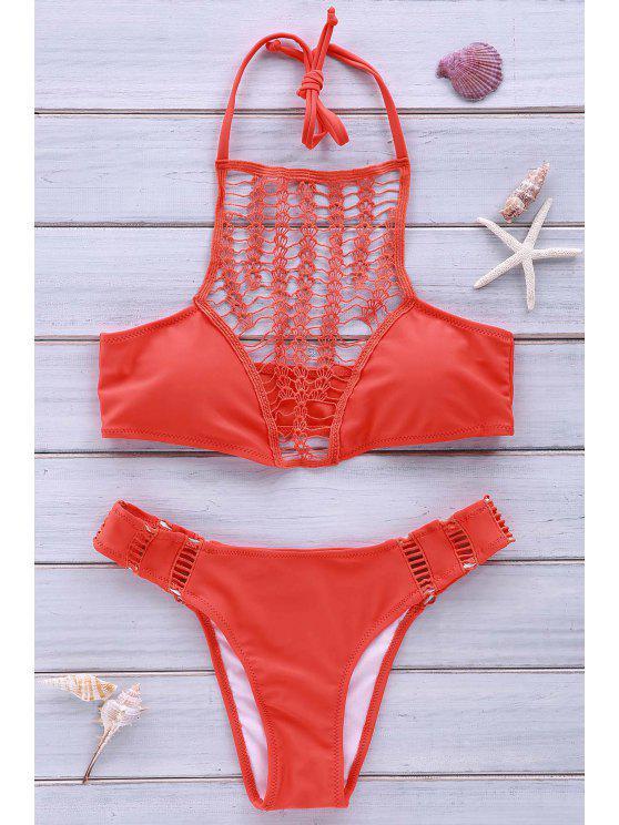 lady Halter Combined Lace Jacinth Bikini Set - JACINTH M