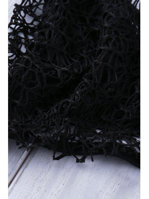 outfits Lace Halter Bikini Set - BLACK L Mobile