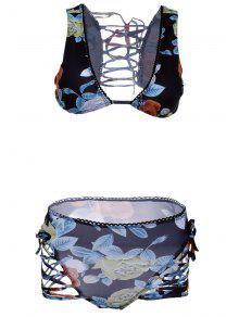 Buds Out Floral Bikini Set - Black M
