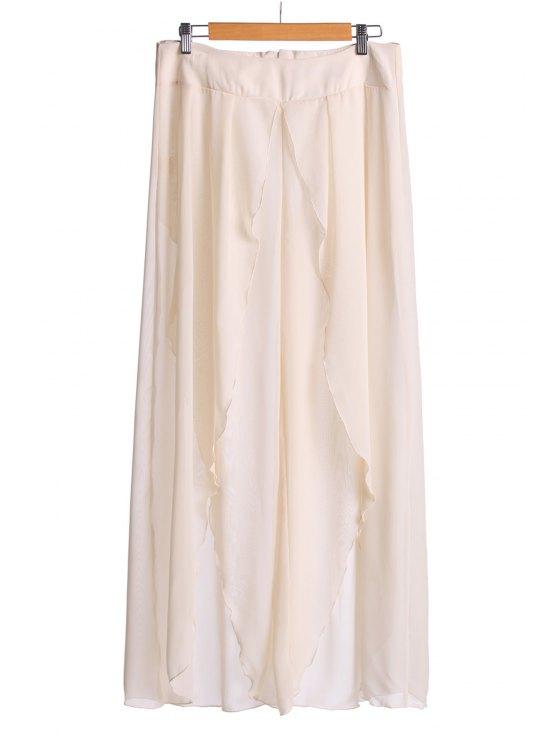 hot Asymmetrical High Slit Pants - OFF-WHITE S