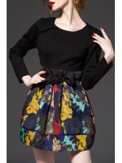 High Waist Mini Dress - Black S