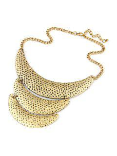 Three Layered Crescent Clavicle Necklace - Golden