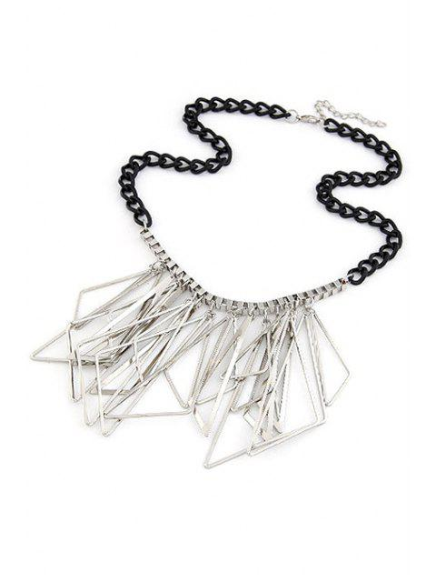 sale Hollow Triangles Pendant Statement Necklace -   Mobile